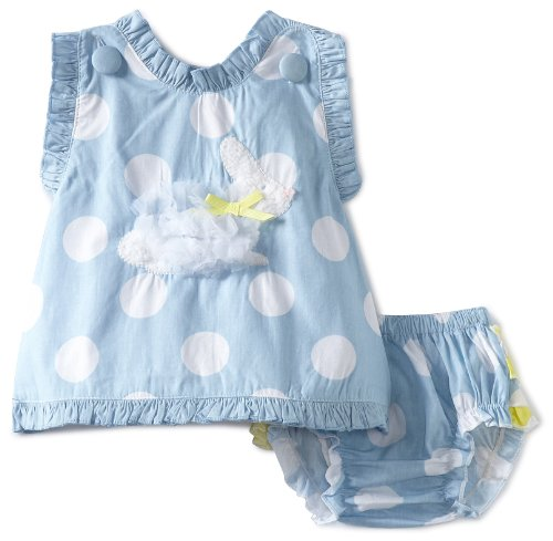Mud Pie Baby-girls Infant Bunny Pinafore and Bloomer Set