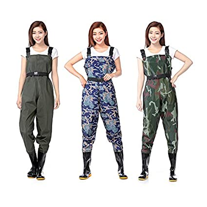 15b69ebe4e317 Loune Week Fly Fishing Wader Chest Clothes Coverall Waterproof Hunting  Pants Camouflages Wading Men Women PVC