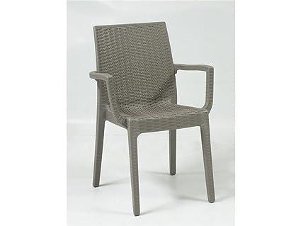Areta are sedia con braccioli modello dafne tortora