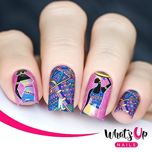(Whats Up Nails – P086 African Beauty Water Decals Sliders for Nail Design )