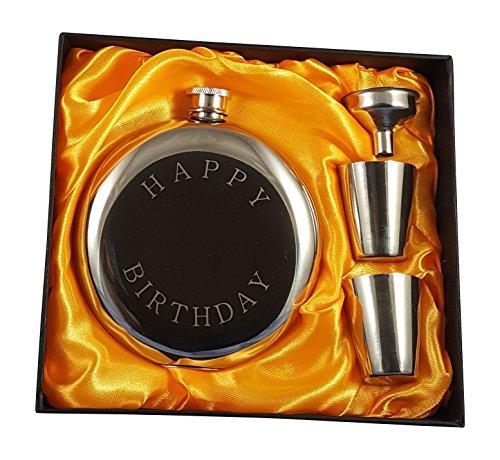 Happy Birthday Flask Gift Set