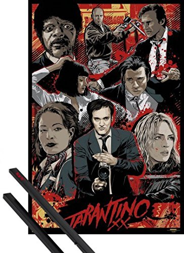 Poster + Hanger: Quentin Tarantino Tarantino Xx, Collection And 1 Set Of Black 1art1