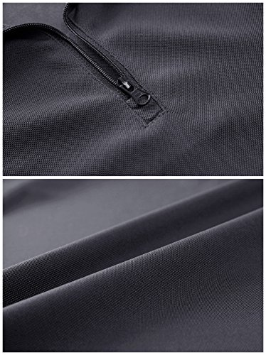 [MAGCOMSEN] メンズ Tシャツ ポロシャツ 半袖 吸汗速乾 耐摩耗 鹿の子 作業着 シャツ 登山 釣り 運動 アウトドア ファスナー ポケット付き