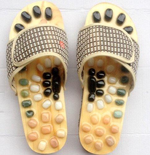 Zapatos de masaje guijarros naturales zapatillas de casa zapatos de salud 1