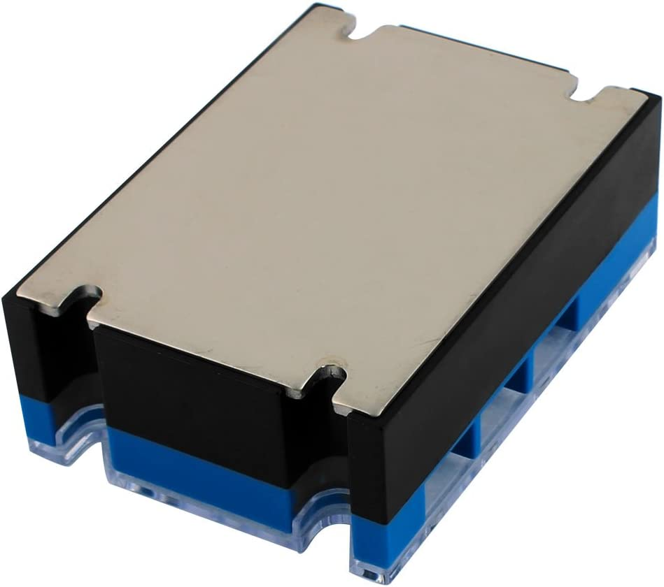 uxcell ASH-3 DA4825 25A 3-32VDC to 24-480VAC 3 Phase Solid State Relay Module DC to AC Relay