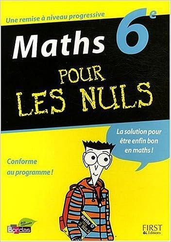 En ligne téléchargement Maths 6e pour les nuls pdf, epub ebook