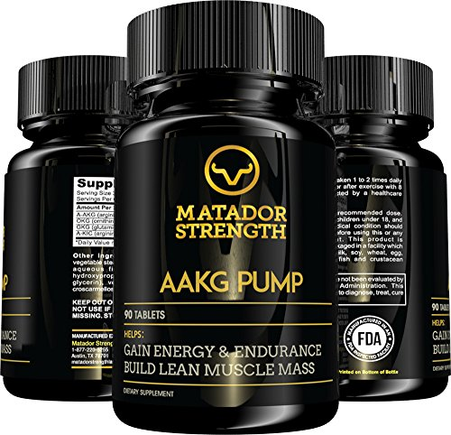 AAKG Pump Amino Acid Arginine Pre Workout Supplement, Increase Nitric Oxide N.O., Build Lean Muscle at Crossfit and Bodybuilding, Weight Lifting Performance, Massive Gains, Energy Booster - 90 Tablets