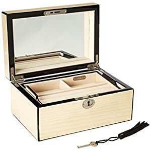 Reed & Barton 632C Natural Instinct Modern Lines Cream Jewelry Box