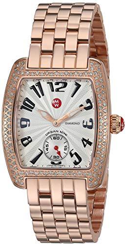 MICHELE Urban Mini Diamond Rose Gold Bracelet Watch