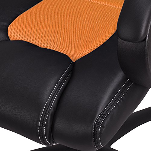 51uh%2BwDqgCL - COLIBROX-High-Back-Race-Car-Style-Bucket-Seat-Office-Desk-Chair-Gaming-Chair-Orange-New-360-Degree-Swivel-Wheel-And-Chair-Can-Run-Smoothly-On-Floor-5-Castor-Wheel-For-Greater-Stability