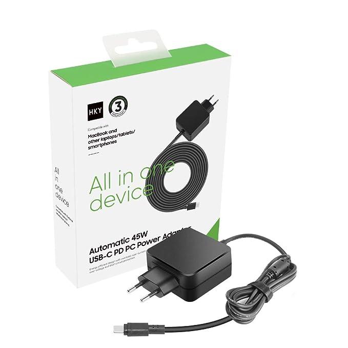 HKY 45 W Type C Fuente de alimentación USB C Cargador ...