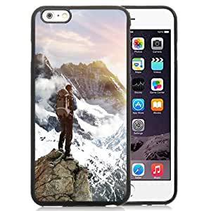NEW Unique Custom Designed iPhone 6 Plus 5.5 Inch Phone Case With Mountain Top Climb_Black Phone Case wangjiang maoyi