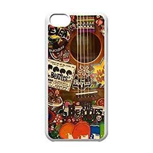 Band The Beatles Theme New Fashion Anti-slip Hard Case Cover for iPhone 5C _White 30305