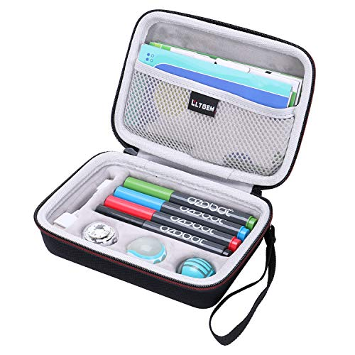 LTGEM Carrying Case for Ozobot Evo App-Connected Coding Robot - Fits USB Charging Cable / playfield / Skin / 4 Color Code Markers ( Fits a Full Robotics kit ) (Compact Usb 100)