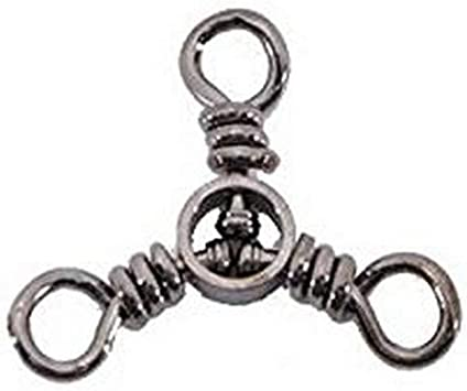 Pack of 5 Size 2, 70-Pounds Black Spro Three Way Swivel