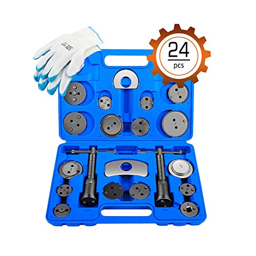 Tools Compression Compression Tool - OrionMotorTech Mechanic Disc Brake Caliper Tool, Professional Automotive Tool with Wide Compatibility - Set of 24