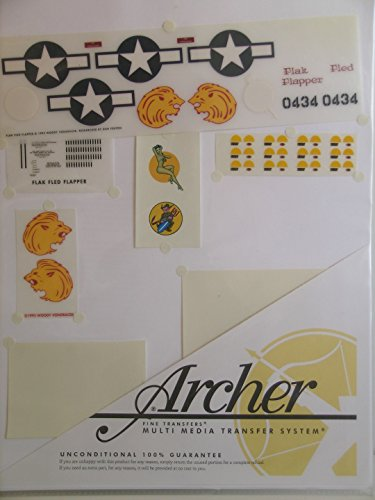 (Archer Fine Transfer Decals 1/48 Scale Decals for the B-24 Nose Art Flak Fled Flapper )