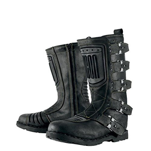 Icon 1000 Elsinore Leather Street Racing Motorcycle Boots