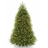 National Tree 7.5 Foot Dunhill Fir Hinged Tree with 750 Clear Lights  & PowerConnect System (DUH3-300P-75)