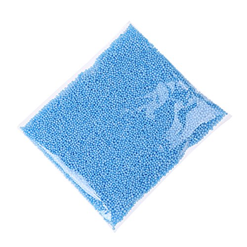 LALANG Mini Styrofoam Balls Tiny Foam Beads for Making School Arts Crafts Supplies (Blue)