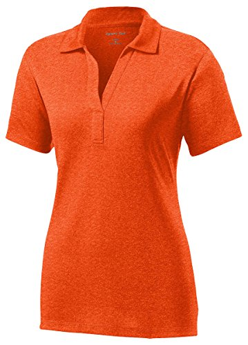 Sport-Tek Women's Heather Contender Polo XL Deep Orange Heather ()