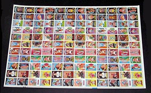 1986 Topps Garbage Pail Kids GPK Series 6 Uncut Sheet of 132 Cards ()
