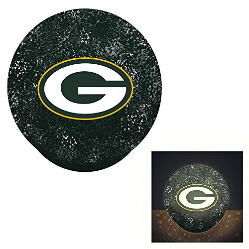 Team Sports America Green Bay Packers LED Glass Disk Indoor Light ()