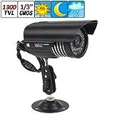 FidgetFidget Waterproof 1300TVL 36 IR LEDs 3.6mm Lens CMOS Night Vision CCTV Security Camera