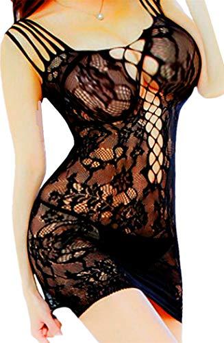 d7577a8cbca Daisland Women Sexy Lingerie Sleepwear Nightwear Fishnet Bodystocking  Bodysuit