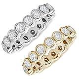 1.50 CT Diamond Eternity Ring 14K Gold