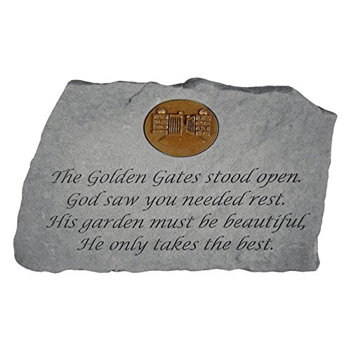 Kay Berry The Golden Gates Stood Open Memorial Stone With...