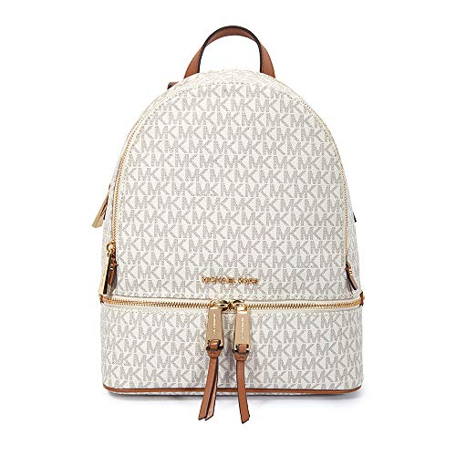 MICHAEL Michael Kors Rhea Zip Medium Backpack Vanilla One Size (Brillen Von Michael Kors)