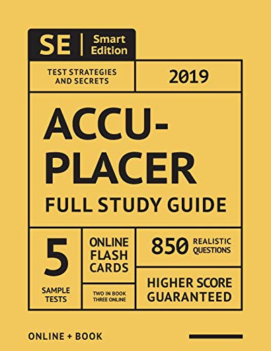 ACCUPLACER 2019: Complete Study Guide with Full-Length Online Practice Tests and Flashcards