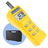 Portable Digital Carbon Dioxide Temperature Humidity Indoor 9999ppm NDIR Sensor IAQ CO2 Monitor Wet Bulb Temperature (WB) Dew Point (DP) Tester CO2 Monitor for Indoor Air Quality (IAQ) Diagnosis
