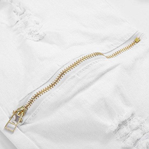 Jeans Cerniera White Beauty Vin Trim Casuale Wlgreatsp Elasticizzati pqTawRXf