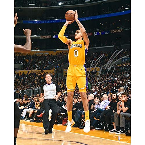 KYLE KUZMA Autographed Los Angeles Lakers Shooting 16 x 20 Photograph FANATICS