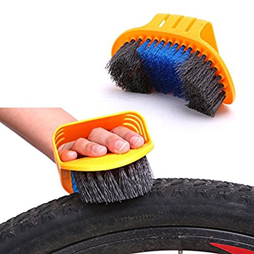 WINOMO Bicycle Cleaning Kit Cleaning Tool Set Tire Brush Chain Cleaner Gloves 6pcs