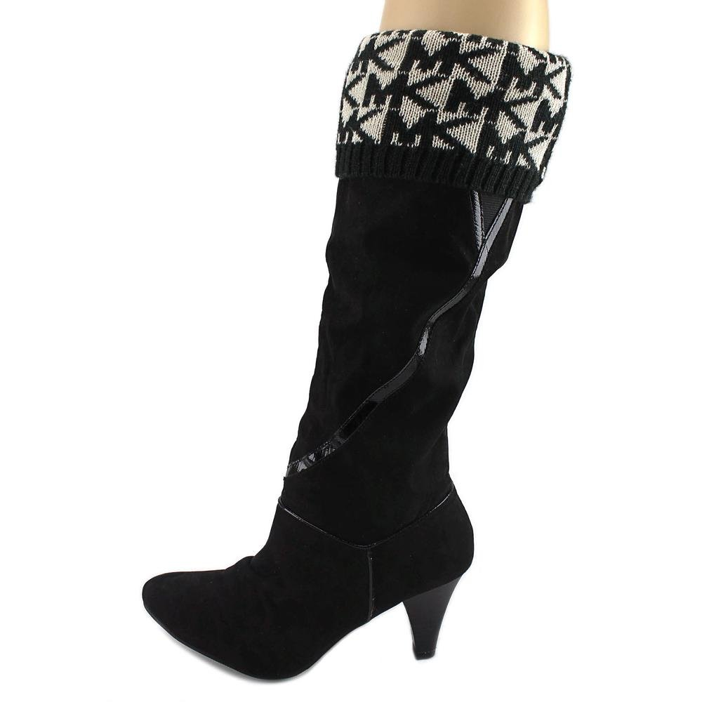 MICHAEL Michael Kors MK Rain Boots Sock Liners Black/Cream (S//M (6-8))