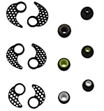Ear Tips for jaybird x2, BLUEWALL Eartips Ear Gel Ear Hook for Jaybird X, Anti-Slip Durable Silicone S\M\L 3 Pair All in 1 Sets Replacement Ear Cushions for JayBird BlueBuds X, X2, Black