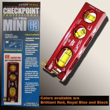 0303 Checkpoint Ultra-Mini G3. Color - - Torpedo Level Checkpoint
