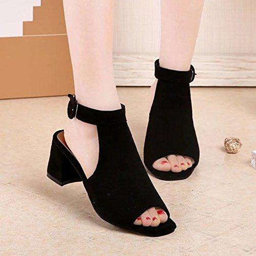 Toe Moda Casual Tomwell Mujeres Verano Peep de Tac Pescado Boca Zapatos Playa Sandalias Tacones Altos xtqqYErw