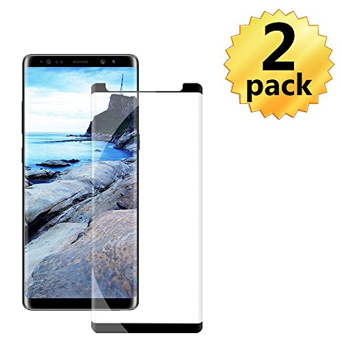 2 Pack Galaxy Note 8 Screen Protector - [Curved Edge][Case Friendly] Anti-Scratch Bubble-Free Tempered Glass Film Compatible with Samsung Galaxy Note8