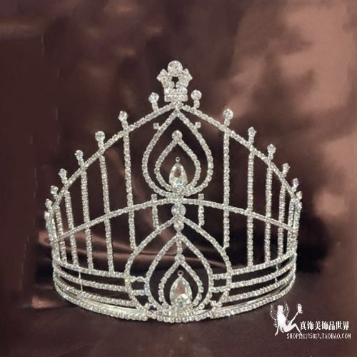 Quantity 1x A_ large _number_custom_Miss_Hong_Kong_ pageant Crown Tiara Party Wedding Headband Women Bridal Princess Birthday Girl Gift _with,_runner-up_in Crown Tiara Party Wedding Headband Women Bri