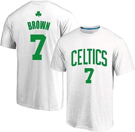 AMJUNM Camiseta de Baloncesto Boston Celtics 7# Brown, Uniforme de ...