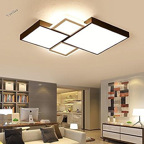 Renshengyizhan@ Geométrico moderno LED luces de techo para ...
