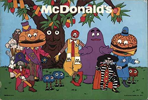 Vintage Advertising Postcard: McDonald