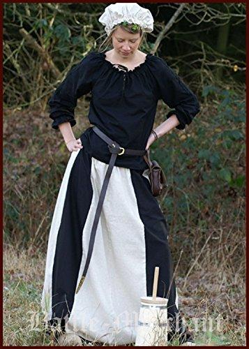 Medieval Rock negro/natural para mujer Rock Gótico Disfraz gewand LARP (Tallas S–�?x l