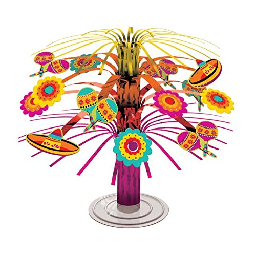 Decoration Cascade (Fun-filled Fiesta Cinco de Mayo Party Mini Cascade Centerpiece Decoration, Foil, 7