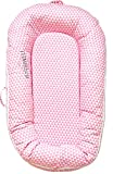 Northwell Baby Lounger, Infant Lounger, Newborn Lounger: Breathable, Hypoallergenic - Perfect for Co-Sleeping, Portable Travel Infant Bed, Crib, Bassinet, Or Baby Nest, for 0-8 Months (Pink Lemonade)