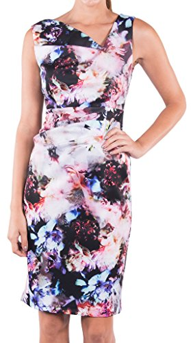 Joseph Ribkoff Multicoloured Floral Sleeveless Sheath Dress Style 164700 - Size 10